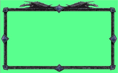 the dragon frame appears in the cut scenes between the campaign scenarios and was another one of those graphics i just thought looked really cool - Dragon Frame
